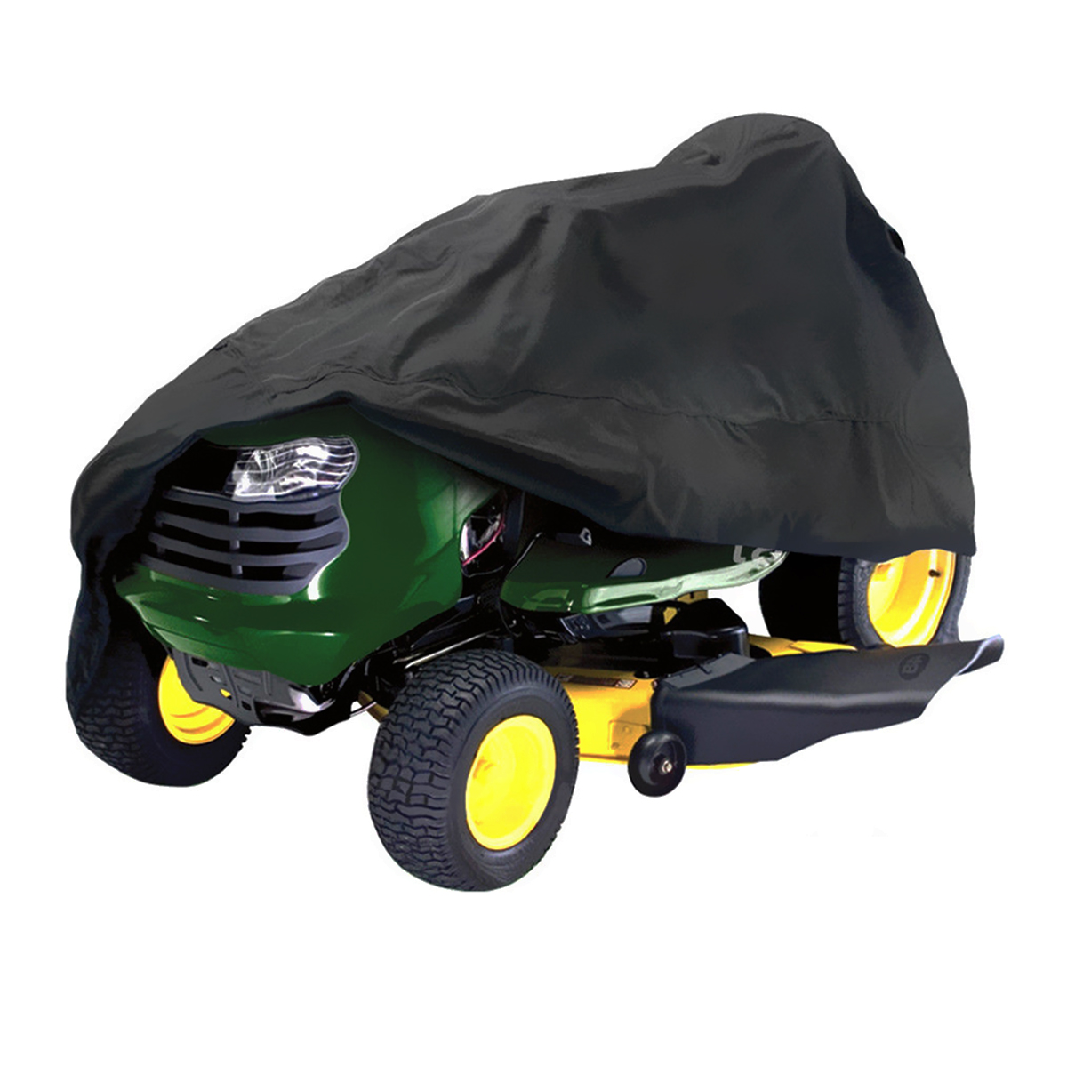 182x111x116cm Black Waterproof Riding Lawnmower Tractor Cover UV