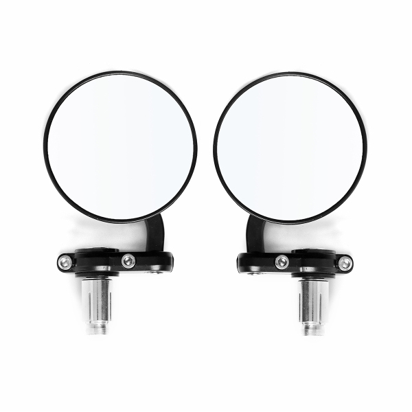 22mm Round Motorcycle Mirrors 7/8inch Handle Bar End Side Spheri