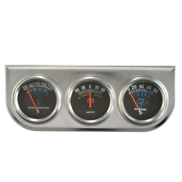 Car Auto Meter Trio Ammeter Water Temp Oil Pressure Gauge Mechan