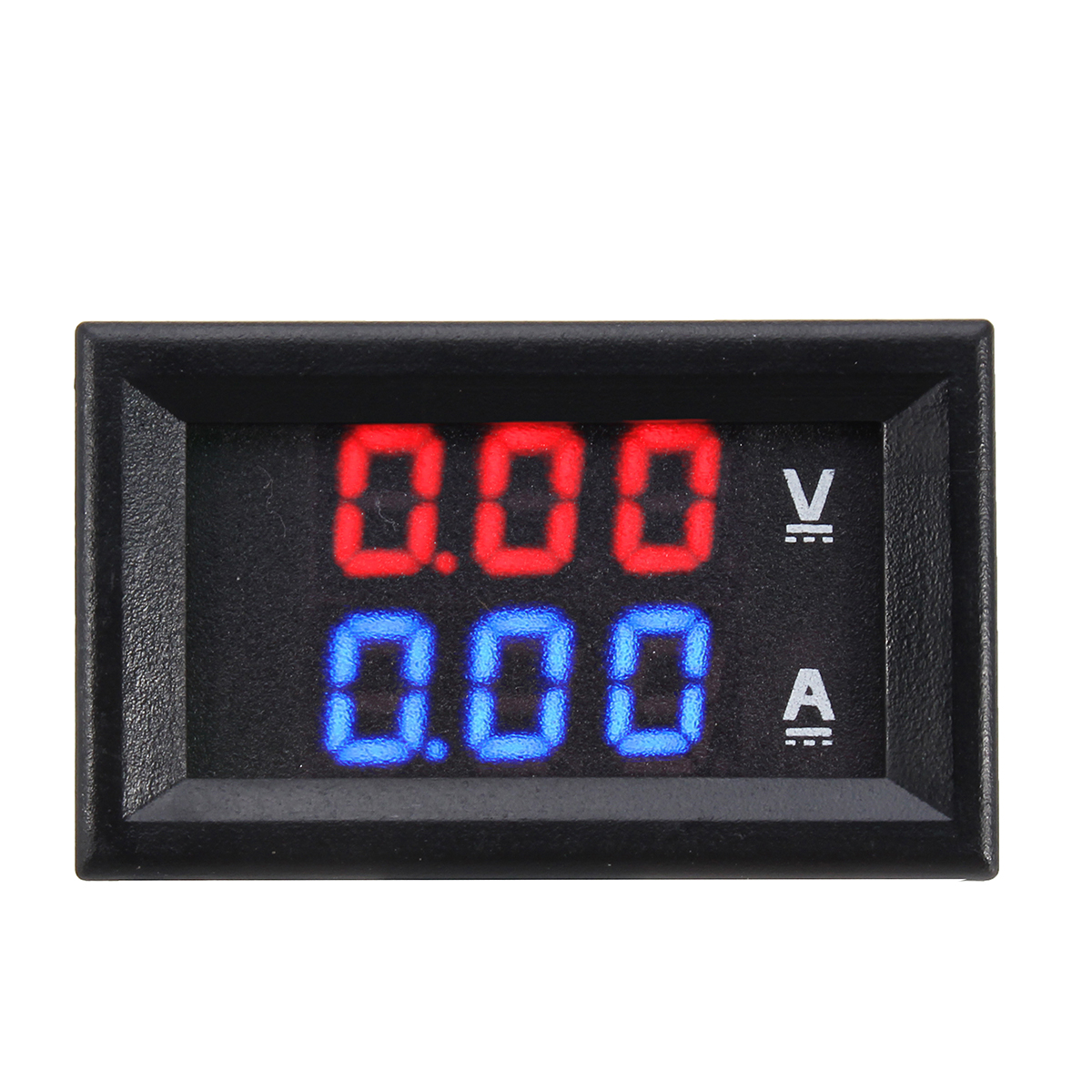 Dual Red Blue LED Digital Voltmeter Ammeter Panel Volt Gauge Met