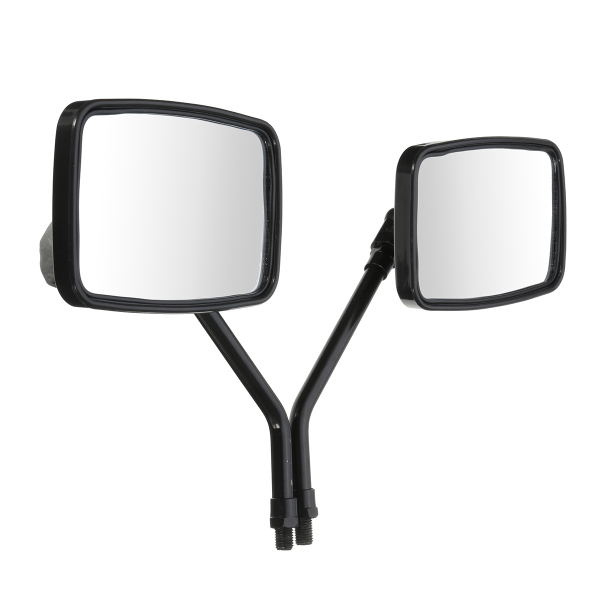 10mm Thread Black Rectangle Rear View Side Mirrors For Motorcycl