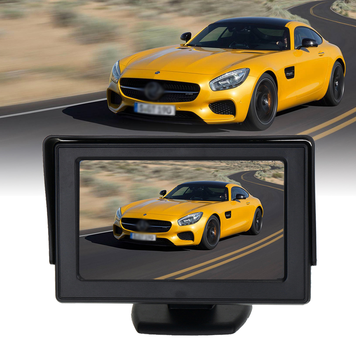 4.3 Inch TFT LCD Car Rear View Monitor Night Vision Backup Rever