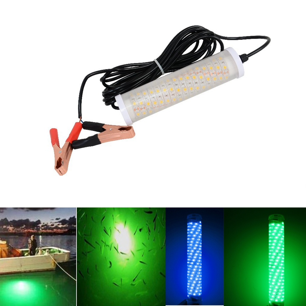 12V 30W Fishing Light SMD5050 LED Underwater Lure Finder Lamp At