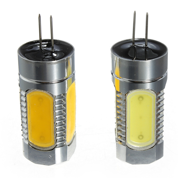 1Pcs G4 5W COB LED Car RV Boat Bulb Lamp Warm/Cool White Light