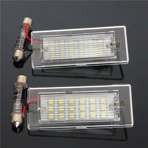 18 LEDs Number License Plate Lights White Lamp for BMW X5 E53 X3