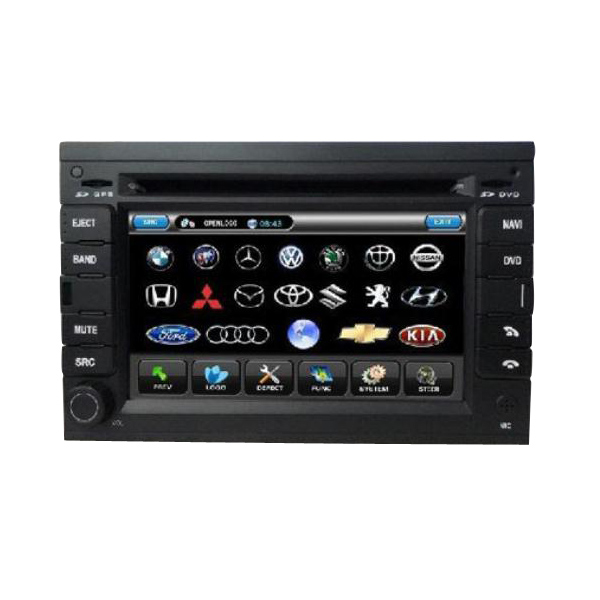 6 Inch Car DVD Player with Digital Screen+Built-in GPS+RDS For V