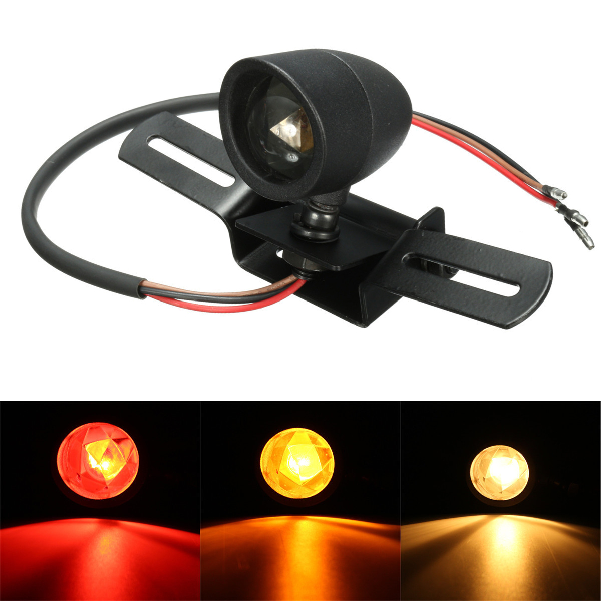Tail Rear Brake Light Motorcycle Bullet Stop Running Lamp With B