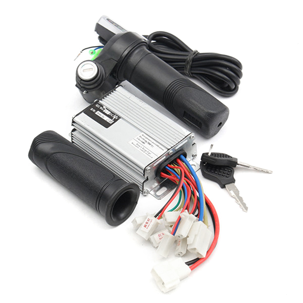 36V 1000W Motorcycle Controller Brushed+Throttle Twist Grips Ele