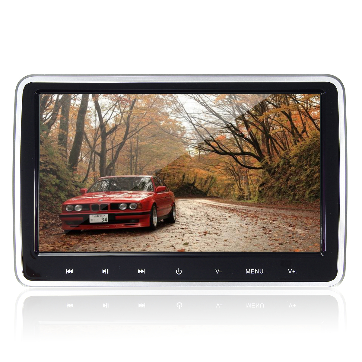 10.1 Inch HD Port Car Video LCD Screen Monitor Pillow Head Rest