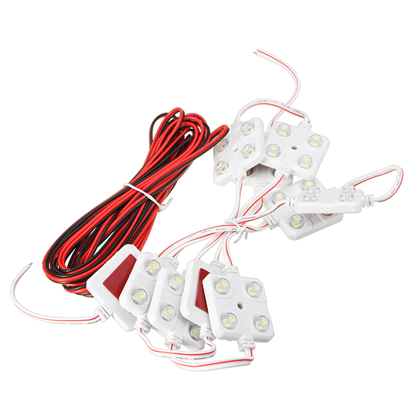 10PCS 12V 4LED Car Interior Dome Reading Lights Kit for LWB Van