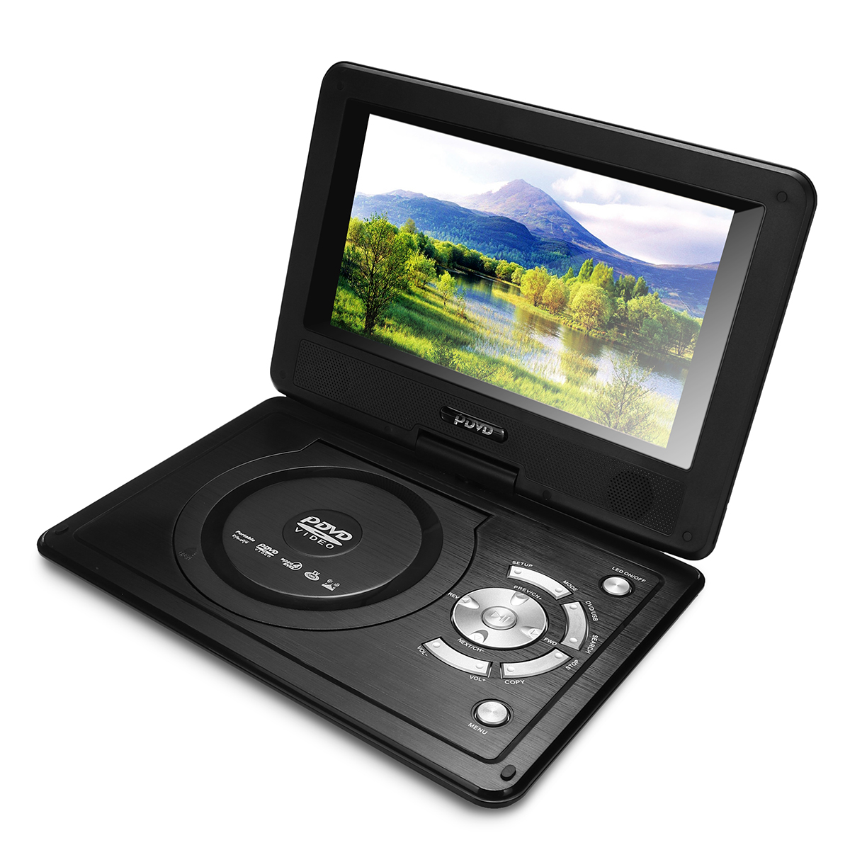 12.4 Inch 270 Rotation Screen Portable Car DVD Player Support Ga