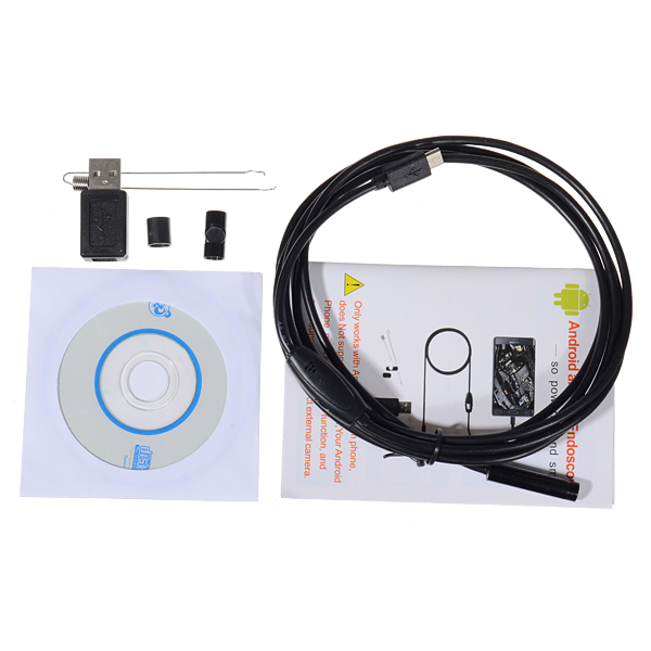 7mm 2 Meters Endoscope for Android Windows IP67 Waterproof USB I