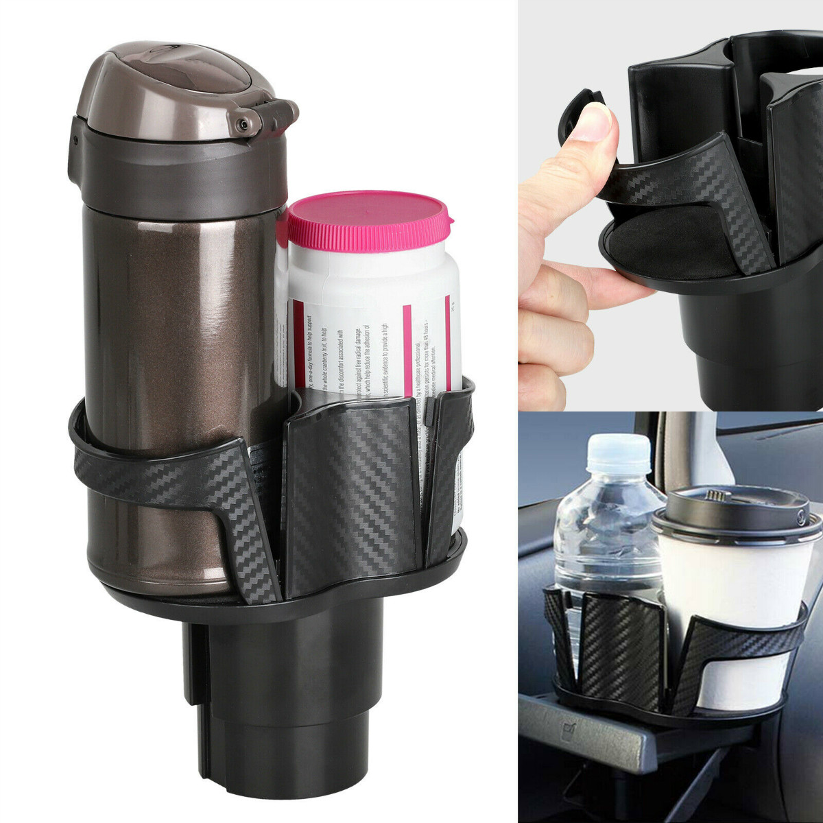 2 in 1 Auto Truck Car Seat Cup Holder Valet Beverage Can Food Dr