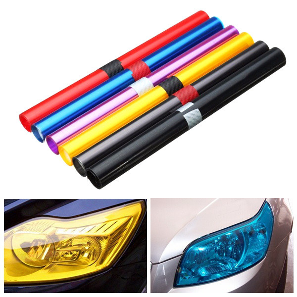 30X100cm Car Light Tint Film Sticker Decal Wrap for Headlight Fo