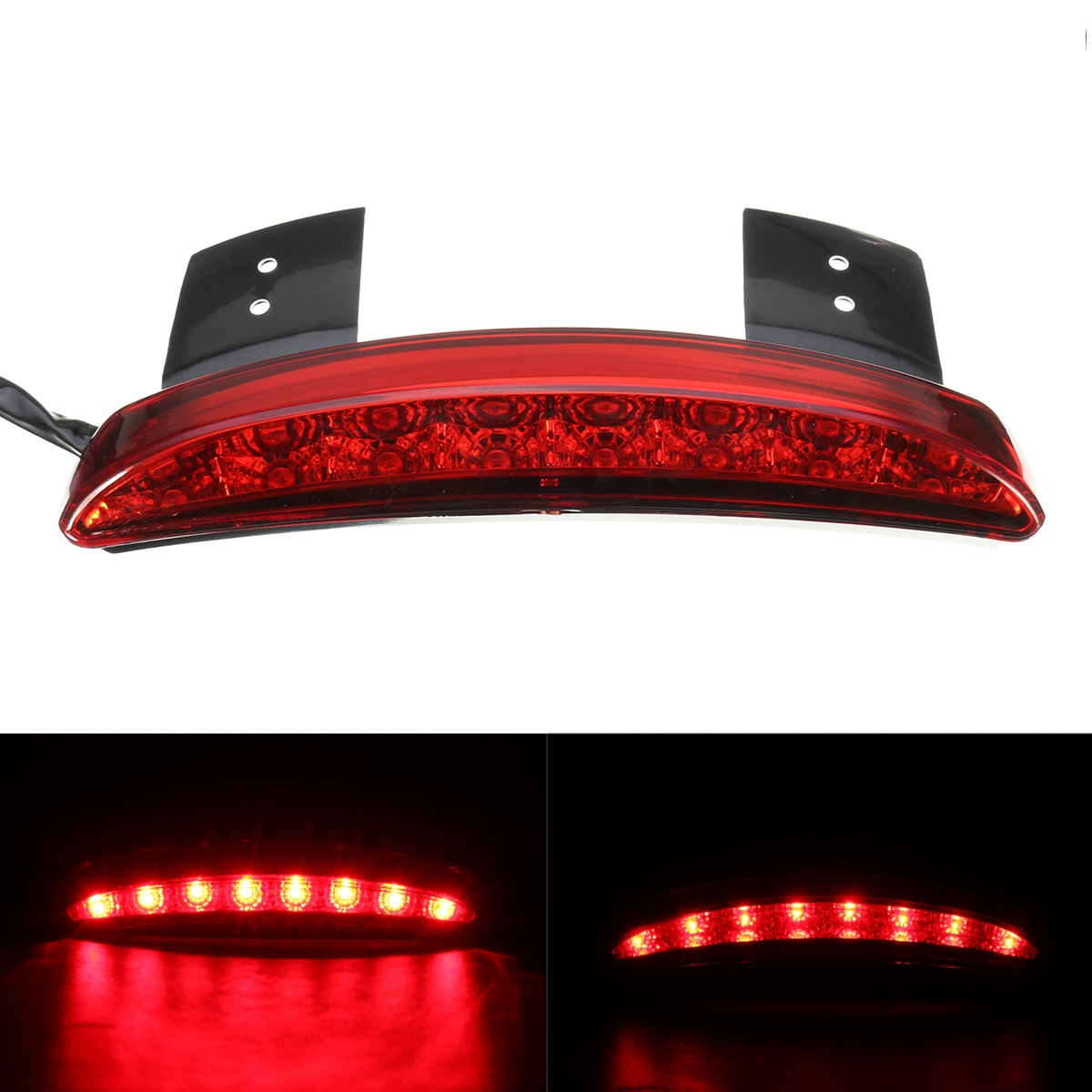 12V Motorcycle 8LED Rear Turn Brake License Plate Tail Lights Fo