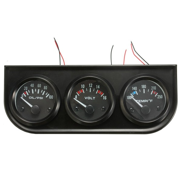 2 Inch 52mm Oil Pressure Volt Water Temp 3 Electronic Gauge Kits