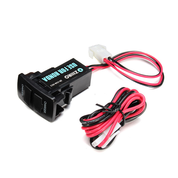 12V 3A Dual USB Port Power Socket Mobile GPS Car Charger For HON