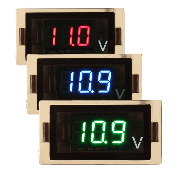 12-24V LED Digital Display Voltage Volt Meterr Panel Motorcycle