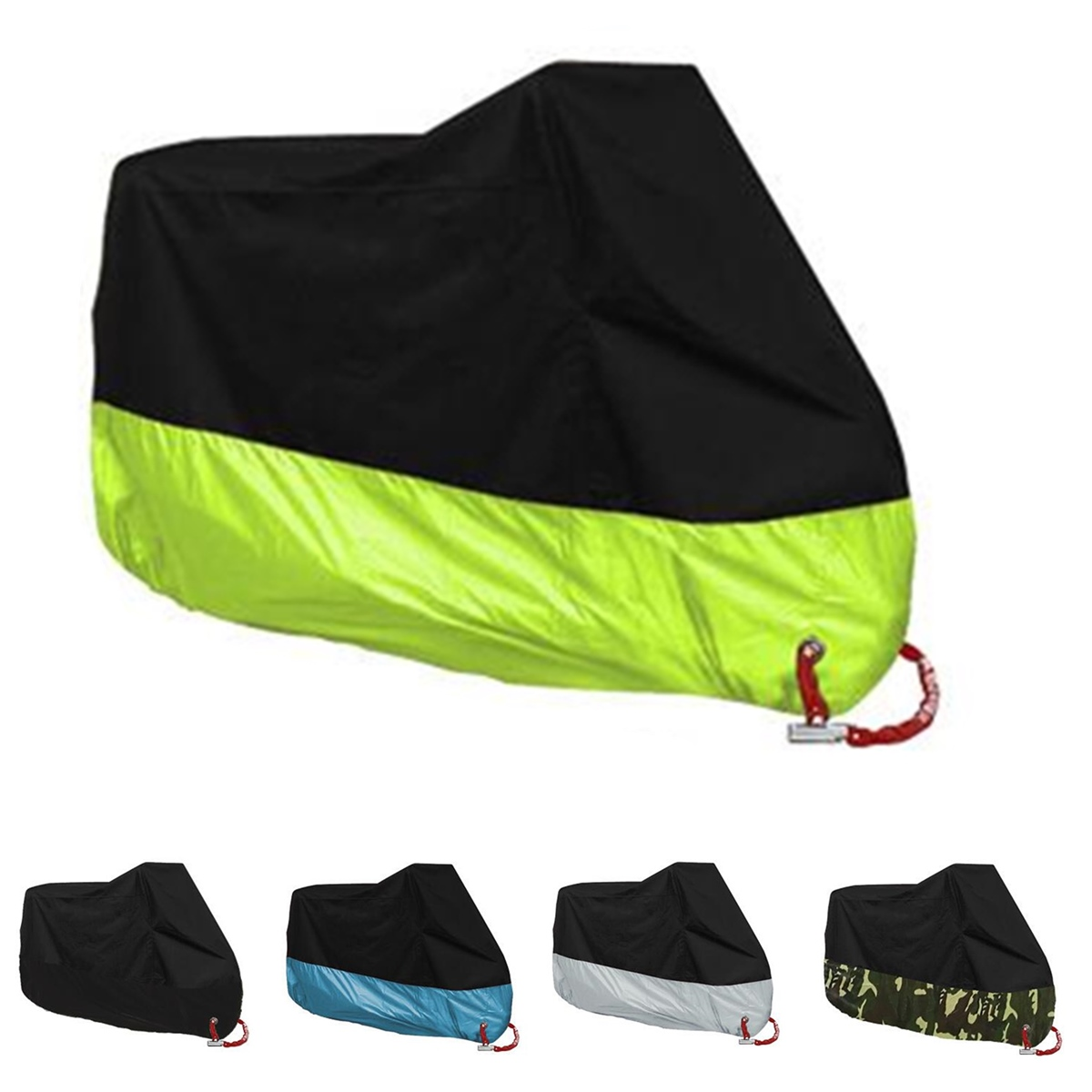 190T Scooter Motorcycle Waterproof UV Dust Protector Rain Cover