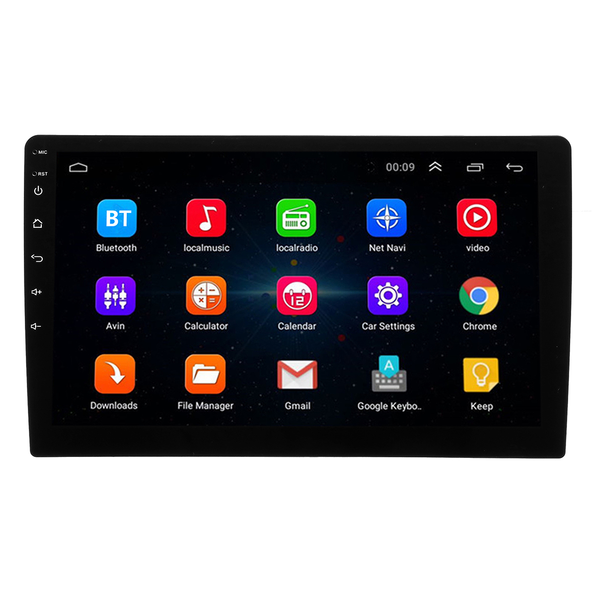10 Inch Android 8 2DIN Car Stereo Quad Core Touch Radio WIFI GPS