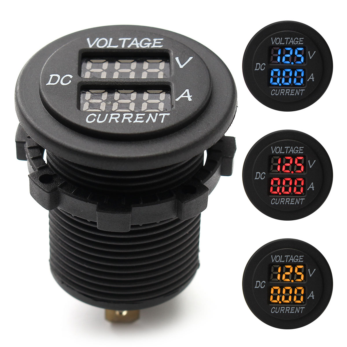 DC 12V 24V Car Voltmeter Ammeter LED Display Digital Voltage Met