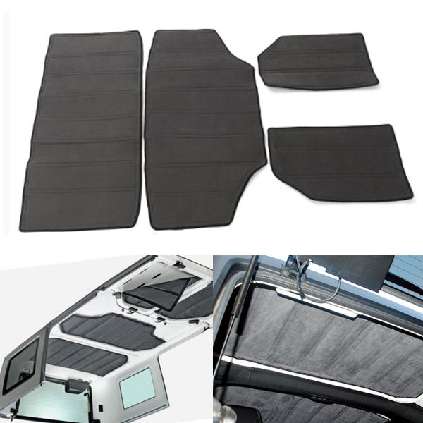 4pcs Gray Hardtop Sound Deadener Heat Shield & Insulation Kit Fo