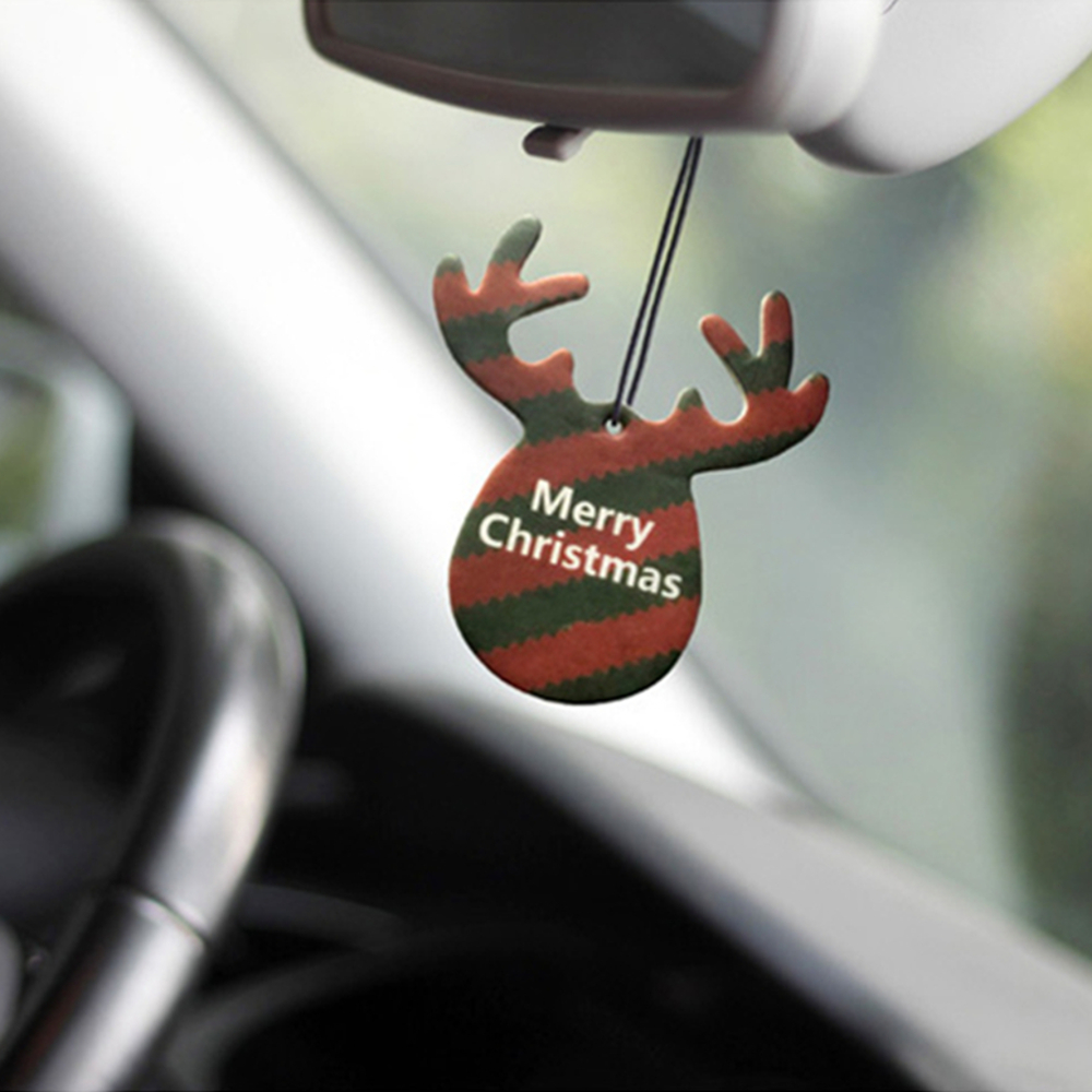 Antlers Shape Car Christmas Pendant Perfume Card Air Freshener H
