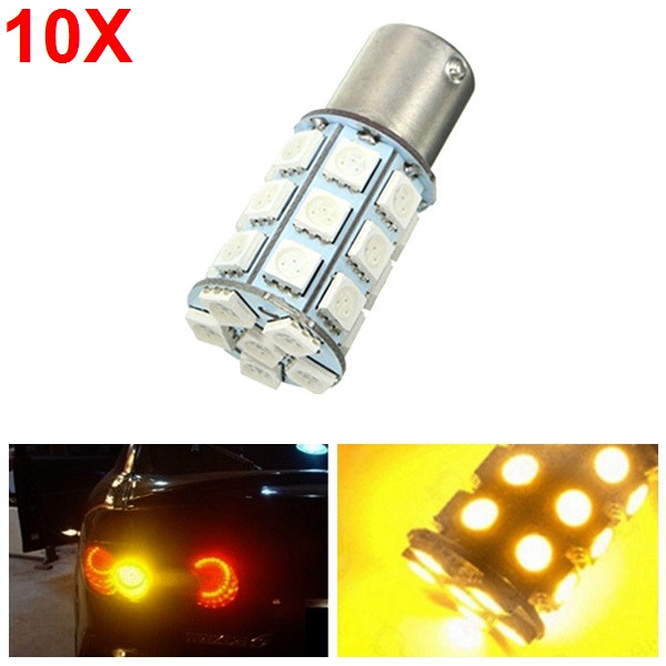 10pcs 21W 5050 27SMD LED Car Turn Signal Light Tail Lamp Reverse