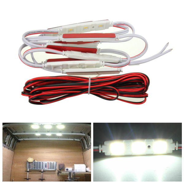 10pcs LED Car Interior Light For LWB Van Lorries Sprinter Ducato