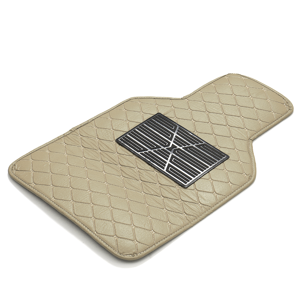 4 PCS Universal Front&Rear Car Floor PU Leather Waterproof Mat w
