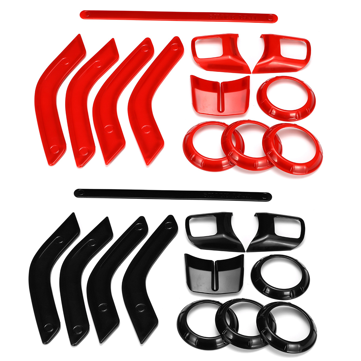 12pcs Car ABS Interior Decorative Trim Kit Moulding Trim Strip f