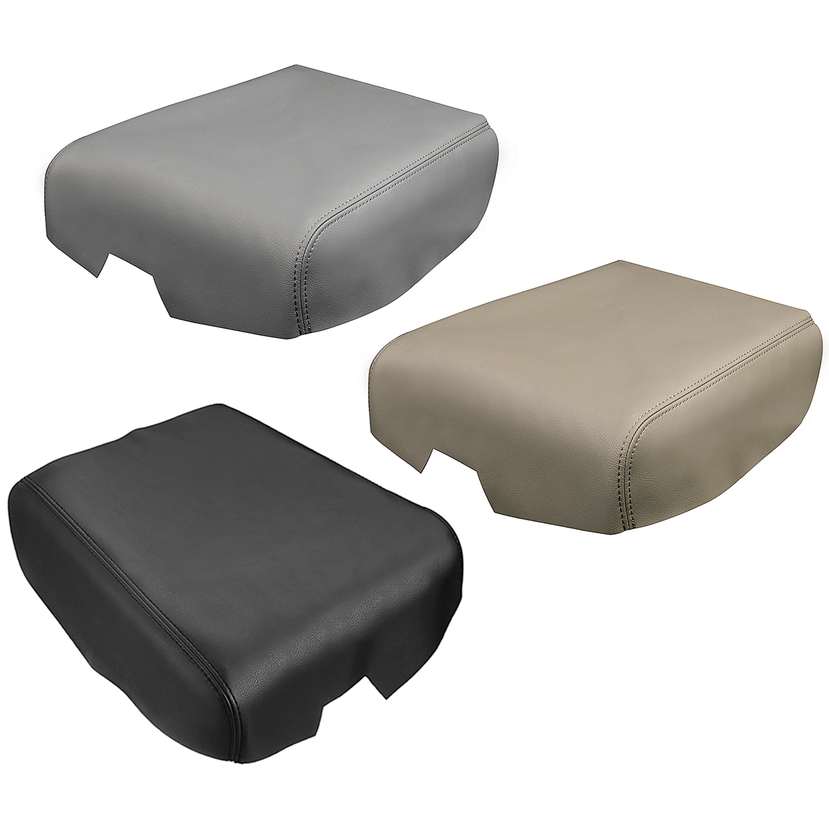 1 Pcs Leather Car Armrest Center Console Lid Cover Fits For Toyo