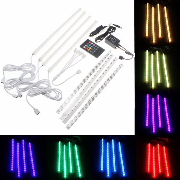 7Color RGB Strip 5050SMD Led Lights Music Control For Car Interi