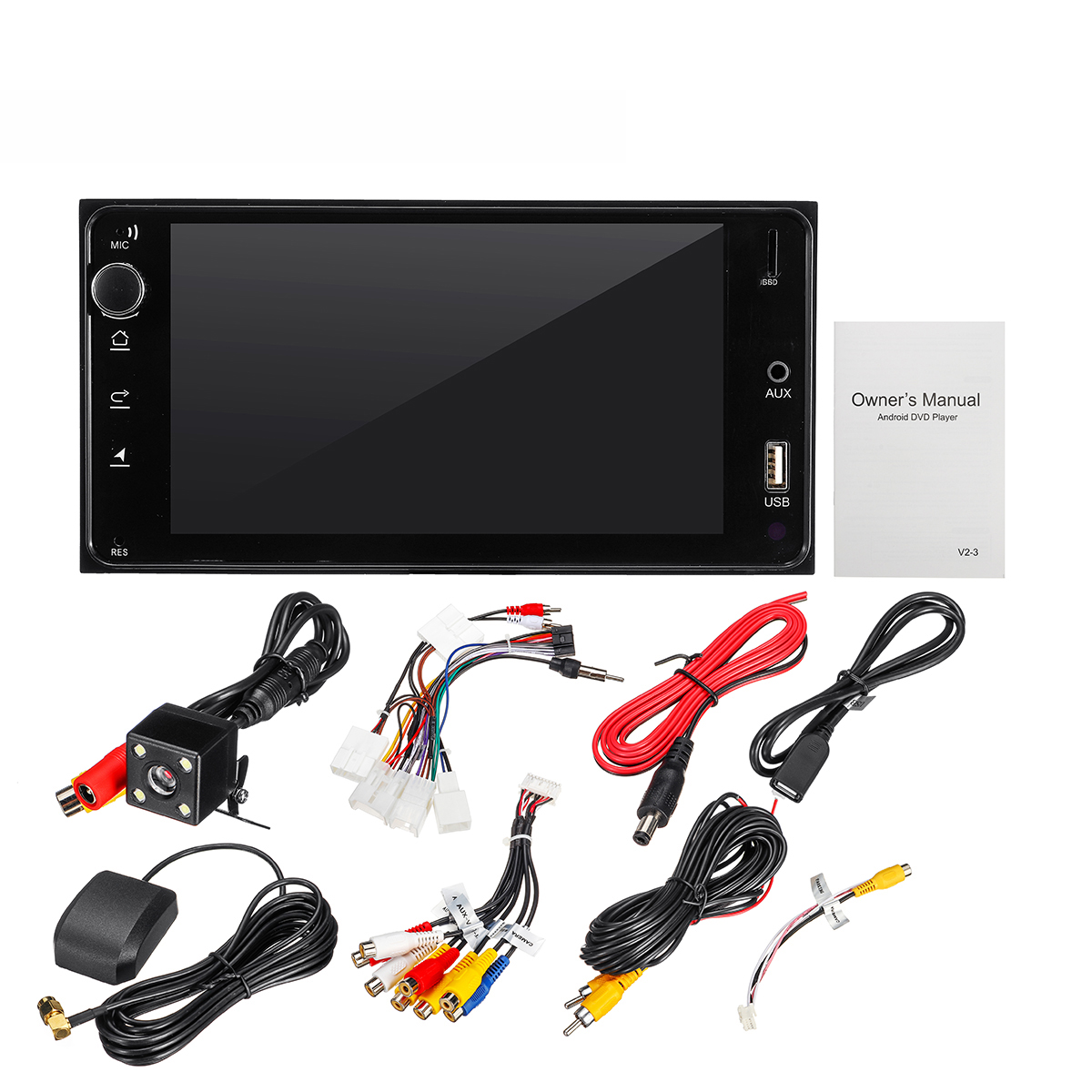 4 Channels x 40W MAX USB / AUX 4 Core 1080P Car Radio Stereo 7''