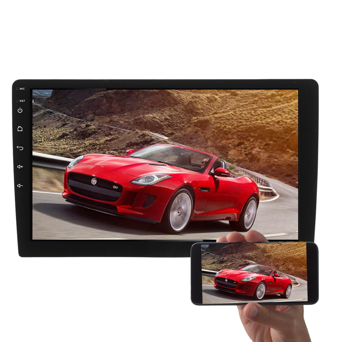 10 Inch Android 1080P Car MP5 Player GPS 2G+32G Stereo Radio 4G