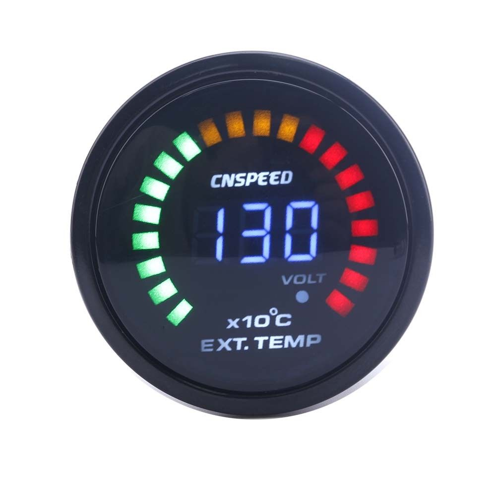 2 Inch 52mm Digital 20 LED Exhaust Gas Temperature Gauge EGT For