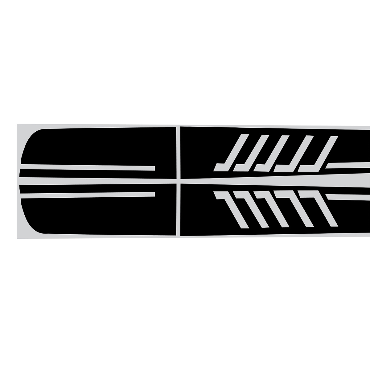 Black BK Stripe Side Sticker Decals Car DIY For Mercedes Benz C-