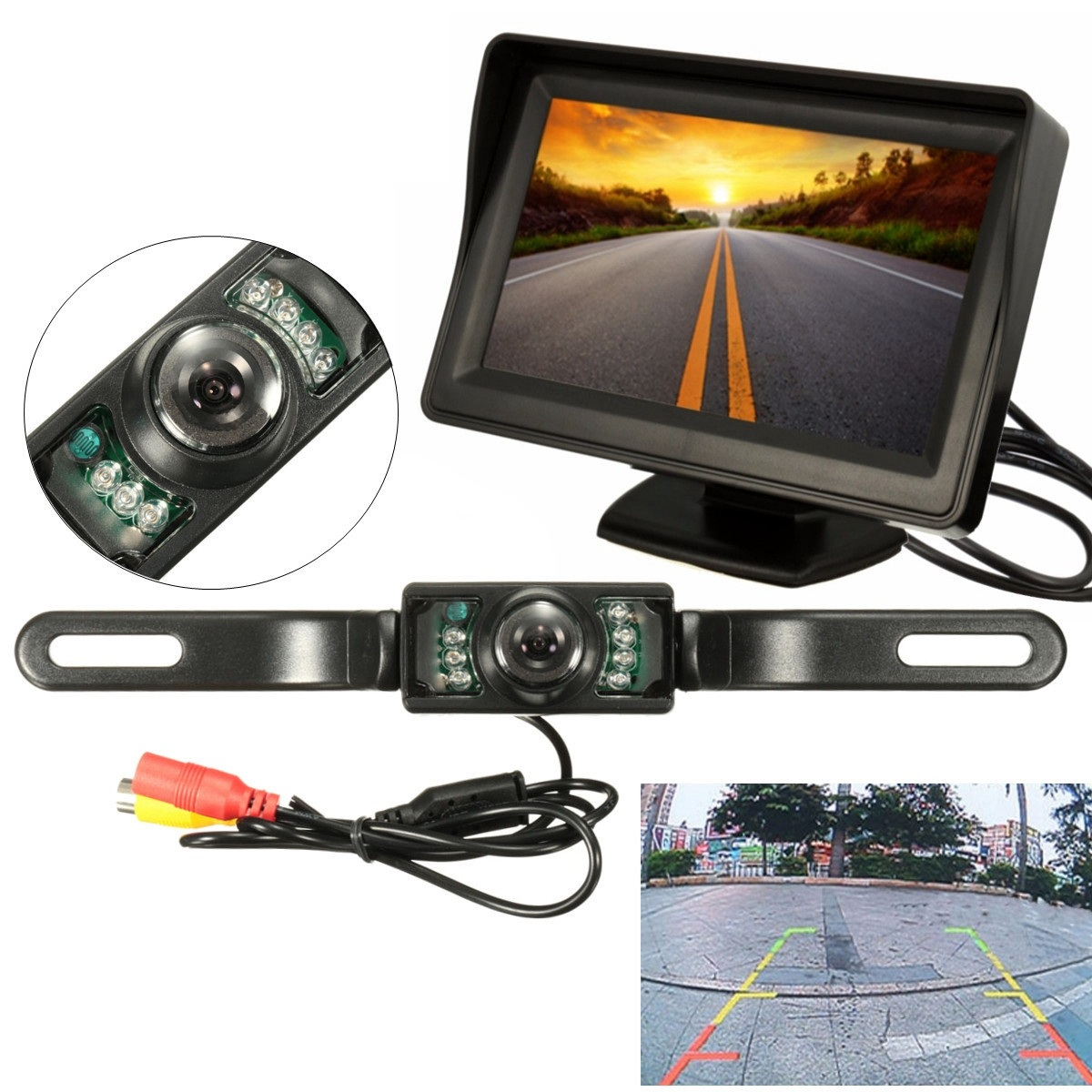 4.3 Inch Car TFT LCD Display Rear View System Kit Monitor Night