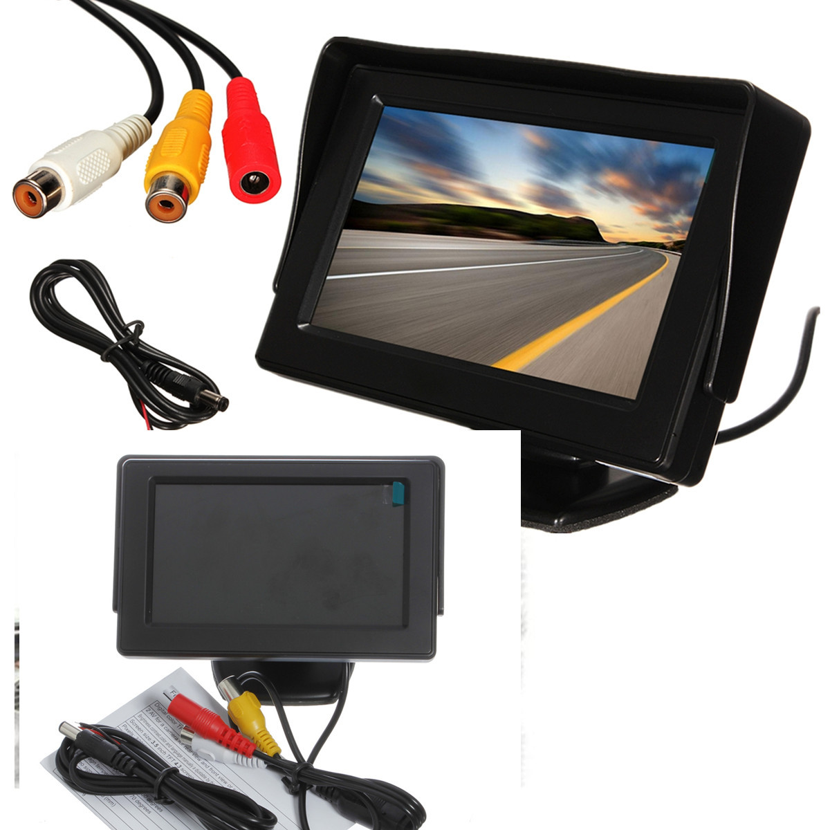 4.3 Inch LCD Car Rear View Monitor Screen Reverse Camera Kit DVD