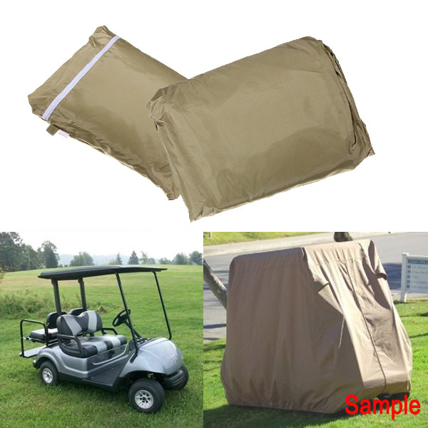 112Inch Golf Cart Cover Taupe Color Protect Against Rain Snow Su