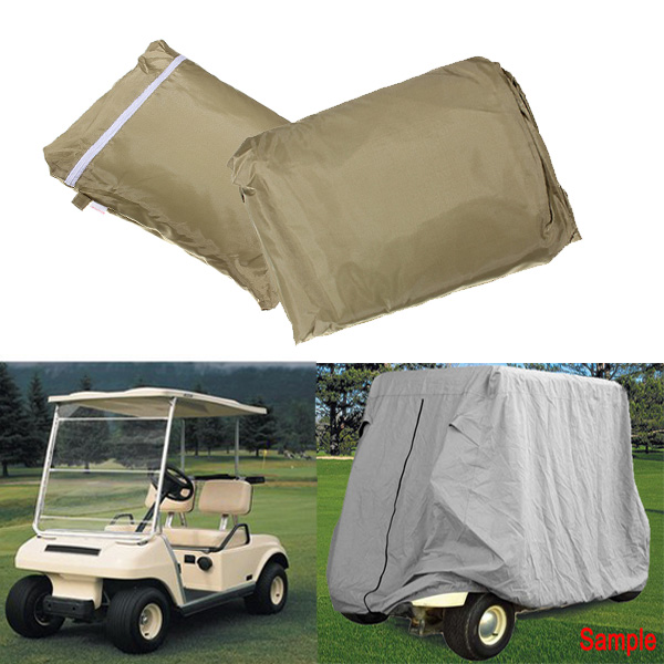 2 Passenger Cover Taupe Protect Against Rain Sun for Golf Cart Y